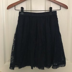 Hollister navy lace skirt